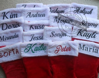 Christmas Stocking Custom Christmas Stocking, Monogrammed Christmas Stockings, Personalized Christmas