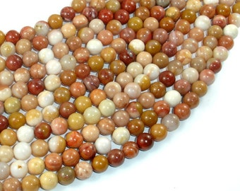 Petrified Wood, 6mm (6.5mm) Round Beads, 15.5 Inch, Full strand, Approx 62 beads, Hole 1mm, A quality (355054007)