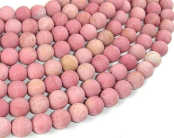 Matte Rhodonite Beads, Round, 8mm (8.7mm), 15.5 Inch, Full strand, Approx 46 beads, Hole 1mm, A quality (386054013)
