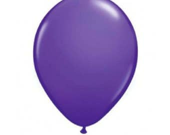 "15 - 12"" Pearlised Purple Latex Balloons - Birthday Party, Barbeques, Weddings etc"