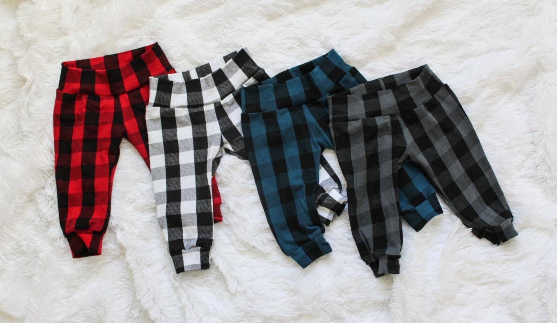Baby Jogger Pants Baby Leggings Buffalo Plaid
