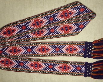 Handmade woven sash belt band gift accessory lithuania