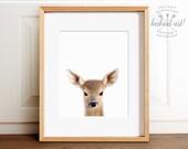 Baby animal print PRINTABLE art,baby deer print,nursery decor,animal art,baby animals,nursery wall art,fawn print,kids art,baby animal
