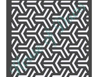 Geometric Stencil - 12x12