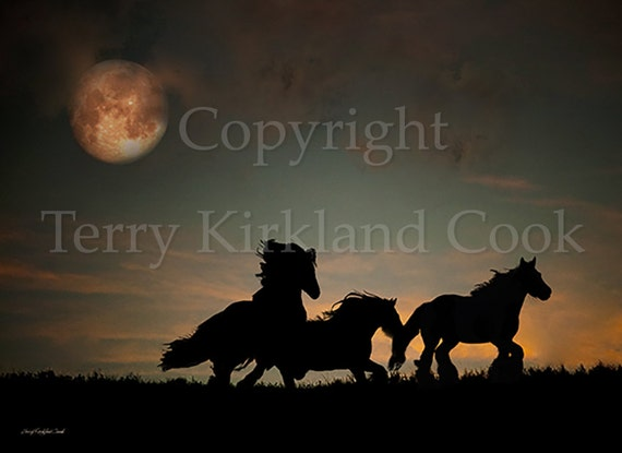"""Fine Art Giclee Print """"The Harvest Moon"""" by Terry Kirkland Cook on Fine Art Paper or Canvas"""
