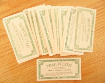 Treasure chest coupons