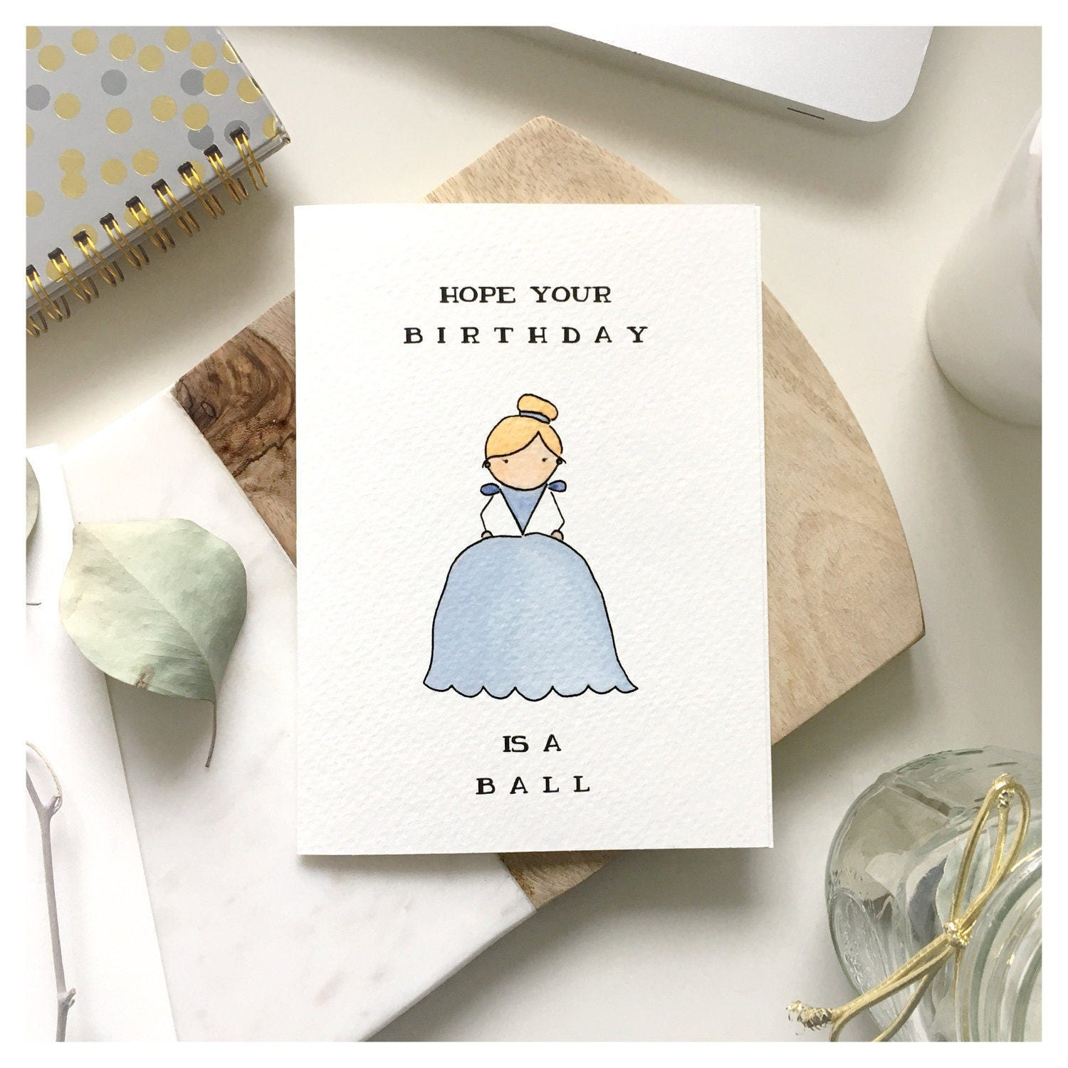 C I N D E R E L L A birthday card cinderella birthday card