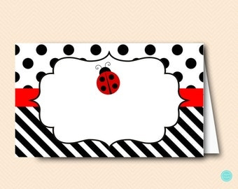 Ladybug Tent Labels. Food Tent Labels,  Food Labels, Bridal Shower Labels, Bridal Shower Decorations, baby shower decorations TLC515