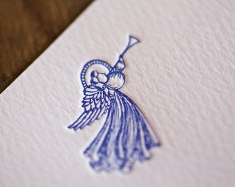 Letterpress Angel Note Cards