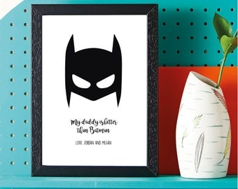 Fathers Day - Super Hero - Batman - Gift