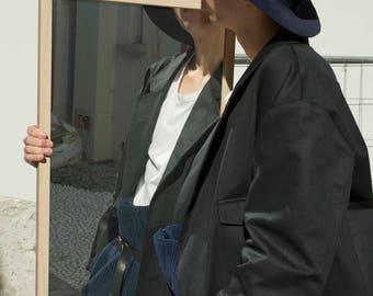 unisex big shoulder work coat