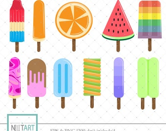 popsicle clip art,, ice lolly clipart, vector graphics, summer clip art, digital clip art, digital images
