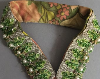 1960s beaded sequin collar