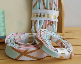 Bias tape binding, piping, Many styles available, blush, coral sea glass, gold, SPRING2017 20% off Exp 5/31/17