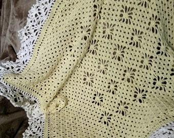 Lemon Meringue crochet baby afghan