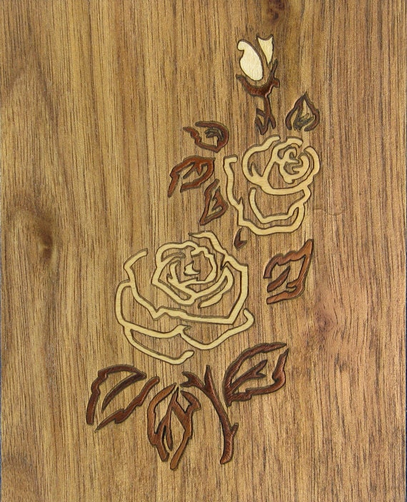 "4'x 5"" Marquetry Project Kit - Rose"