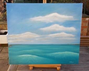 Blue Sea II - Original oil painting