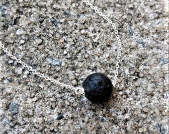 Essential Oil Diffuser Necklace - Lava Bead necklace - Aromatherapy jewelry - Lava Bead Diffuser Necklace - Minimalist - Lava Stone Diffuser