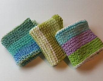 Hand Knit Dish Cloths Made By Mom