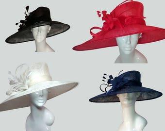 Classic Kentucky Derby Wide Brim Church Hat