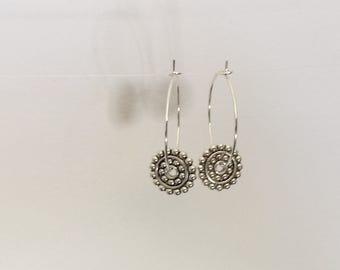hoop & wheel earrings