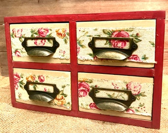Upcycled set of four desk top drawers