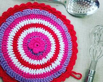 Pot Holder, crochet pot holder, pan holder