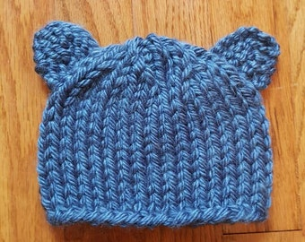 Baby Bear Hat- Blue