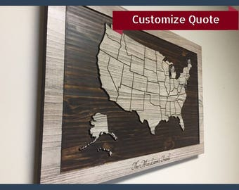 View Letters Free Standing By HowdyOwl On Etsy - Free customizable us map