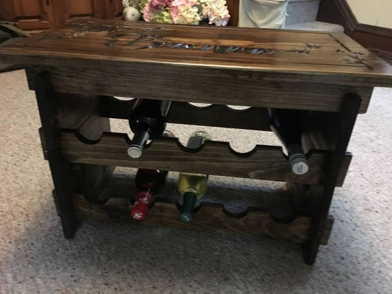 Expandable Custom Engraved Table Top Wine Rack