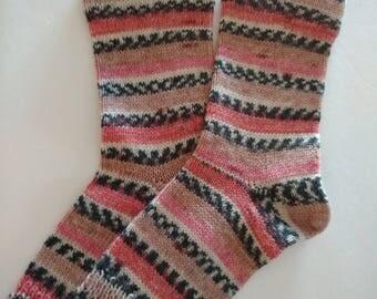 Flip Flop Socks, Pedicure Socks, Wool Socks,  Hand Made Wool Socks, Hand Cranked Wool Socks, Boot Socks, Women's Wool Socks, Teen Wool Socks