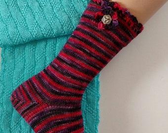 Alpaca Socks, Wool Socks,  Hand Made AlpacaSocks, Hand Cranked Wool Socks, Boot Socks, Women's Wool Socks, Teen's Socks, Men's Socks, Alpaca
