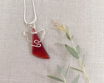 Friend Gift Idea - Necklace for BFF - Best Friend Necklace - Gifts for Best Friend - Red Friendship Angel - Friendship Necklace - Angel Gift