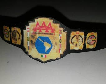 Latin American wrestling title belt