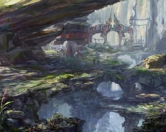 Mist Cliffs (18.3 X 13 in)
