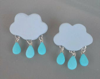 Rain cloud pin