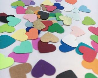 50ct Rainbow Heart Confetti
