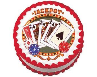Jackpot Poker - Edible Cake Topper