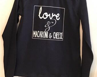 Love & Macaroni and Cheese  tee