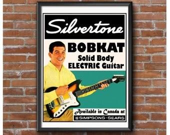 Silvertone Bobkat Electric Guitar Poster