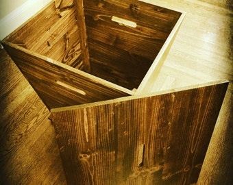 Vineyard Cart End Table with Storage.