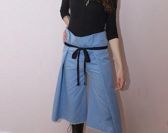 Thai pants cotton blue