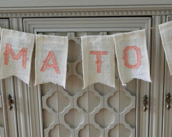 Mama To Be Banner, Pink Banner, White Banner, Baby Shower Banner, Burlap Banner, Baby Shower Decor