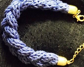 Bracelet tressé, hand made bracelet, fantaisy bracelet, sailor knot
