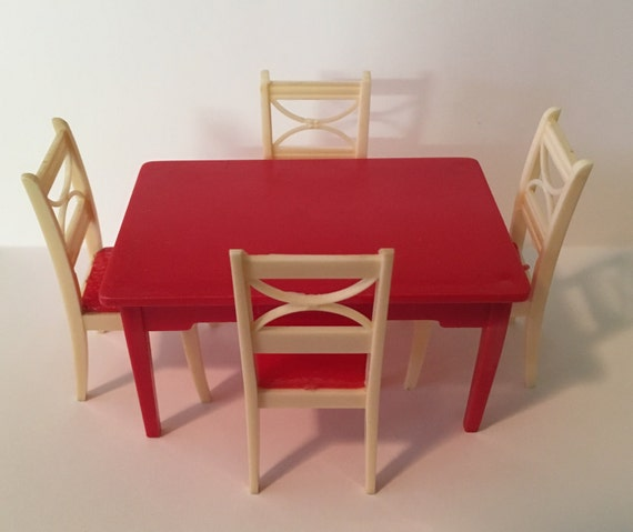 Renwal Red Kitchen Table & Chair Set Vintage By MargosMaddness
