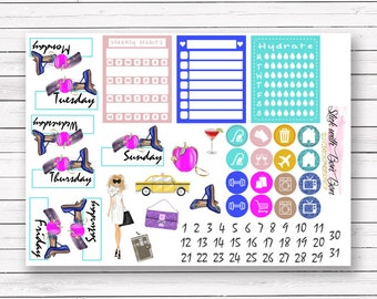 Carrie Sex and the City add-on stickers || Erin Condren planner vertical layout
