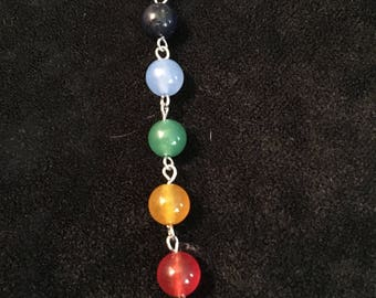 "Chakra necklace on 18"" sterling chain"