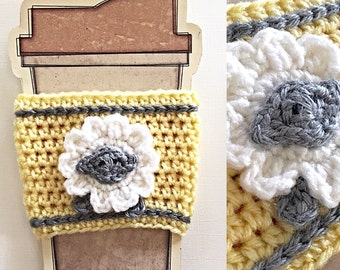 Coffee Cup Cozy Sleeve - Handmade Crochet