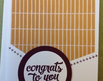 Handmade card- congratulations occassion- congratulations card- Baseball card- male or female- blank card