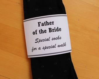 Instant download: PRINTABLE Father of the bride sock wrapper, wedding socks label, PDF, wedding, DIY gift tag, Special Socks Special Walk